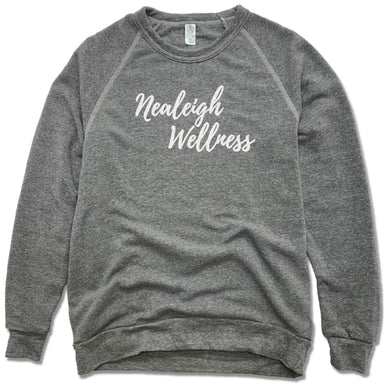 NEALEIGH WELLNESS | FLEECE SWEATSHIRT | WHITE LOGO