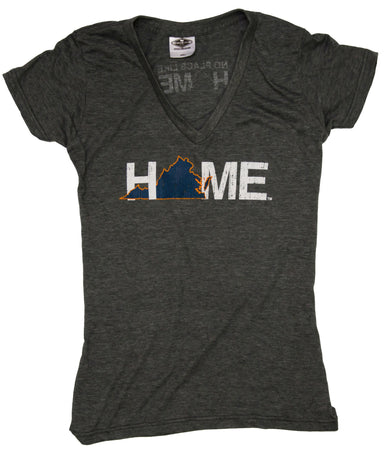 VIRGINIA LADIES V-NECK | HOME | NAVY/ORANGE