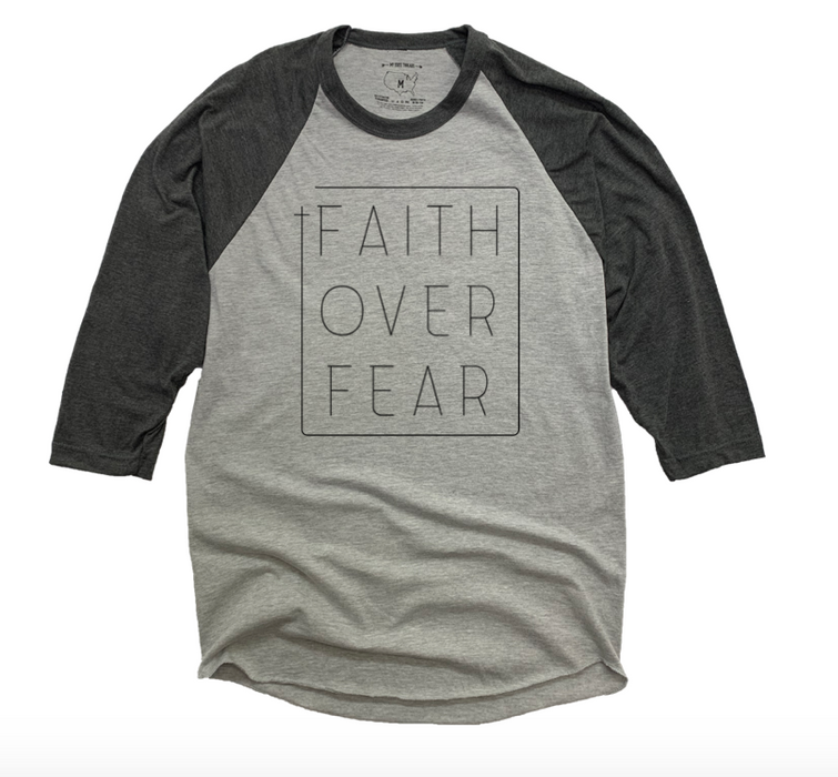 FAITH OVER FEAR | GRAY 3/4 SLEEVE