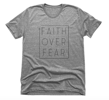 FAITH OVER FEAR | UNISEX GRAY Recycled Tri-Blend