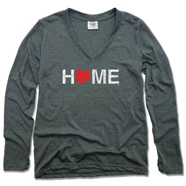 OHIO LADIES LONG SLEEVE V-NECK | HOME | RED