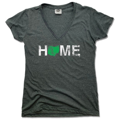 OHIO LADIES V-NECK | HOME | GREEN - My State Threads