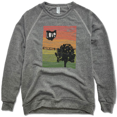 OHIO | FLEECE SWEATSHIRT | LOVE LINE ART