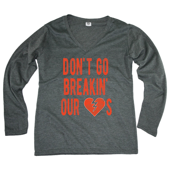 Don't Go Breaking Our Hearts - Cleveland - Ladies' Longsleeve