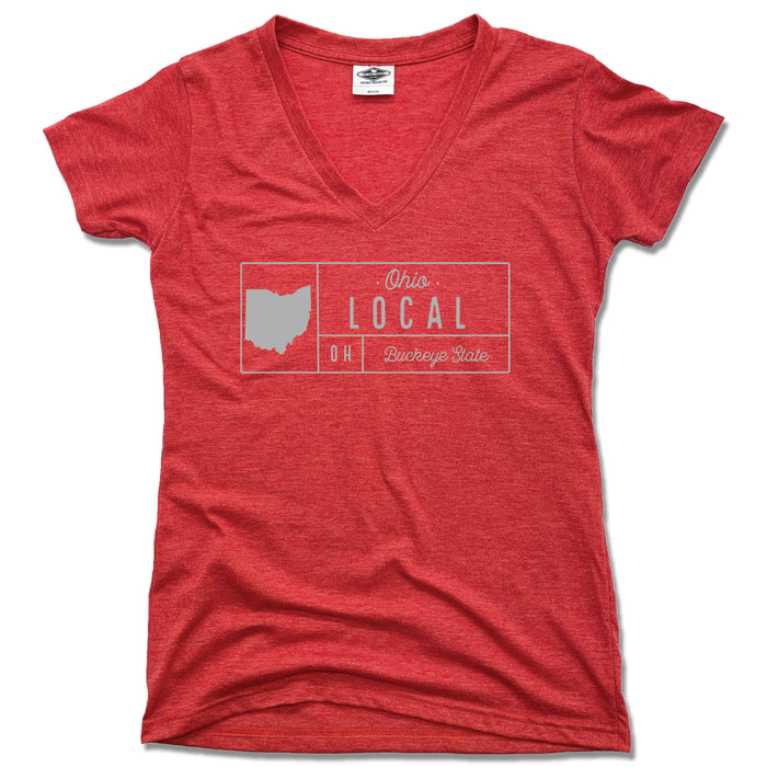 Ohio Local Buckeye State Grid - Ladies' Tee