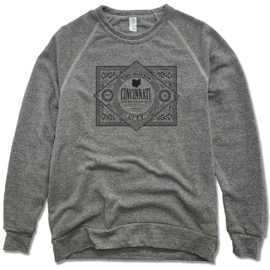 CINCINNATI | FLEECE SWEATSHIRT | VINTAGE BLACK