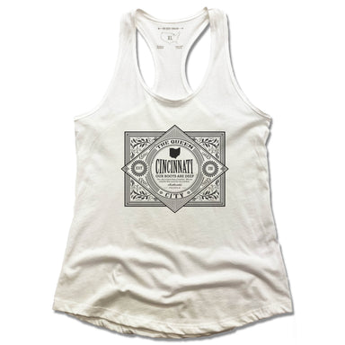 CINCINNATI | LADIES TANK | VINTAGE BLACK