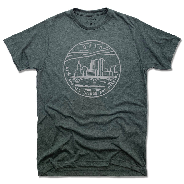 OHIO TEE | STATE SEAL | WITH GOD, ALL THINGS ARE POSSIBLE