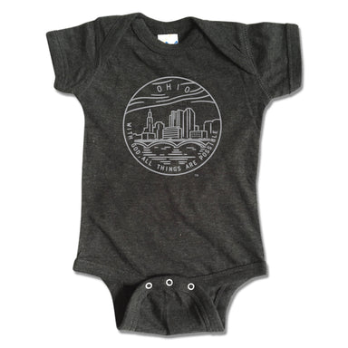 OHIO ONESIE | STATE SEAL | WITH GOD, ALL THINGS ARE POSSIBLE