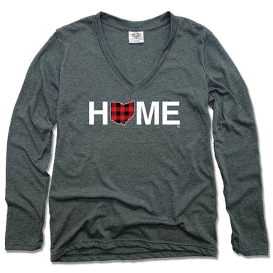 OHIO LADIES LONG SLEEVE V-NECK TEE | HOME | PLAID