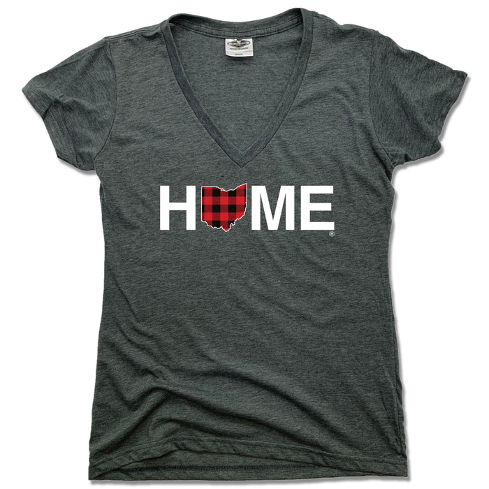 OHIO LADIES V-NECK TEE | HOME | PLAID