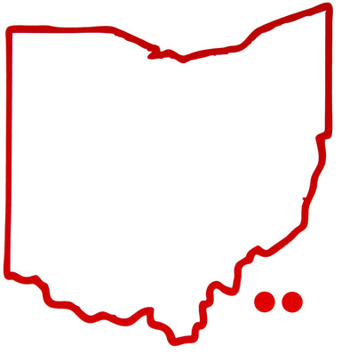 OHIO STICKER | HOMETOWN DOT | RED