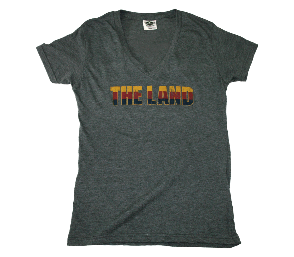 OHIO LADIES V-NECK | THE LAND | WINE/GOLD