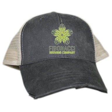 FIBONACCI BREWING COMPANY | EMBROIDERED MESH HAT | COLOR LOGO