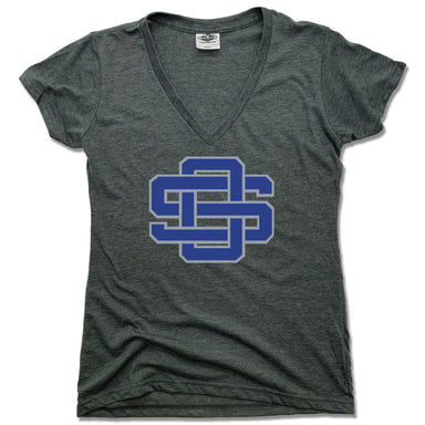 OCEAN SPRINGS | LADIES V-NECK | LOGO