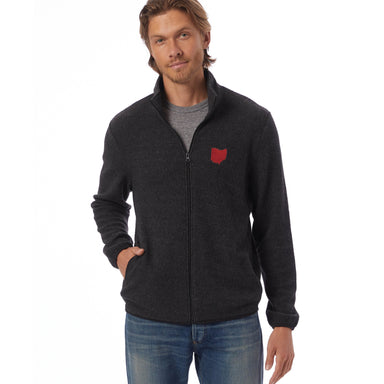 Ohio Embroidered Eco-Teddy Full-Zip Jacket
