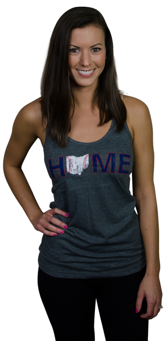 Ladies' Ohio Tank | Cleveland Stitches | Navy/Red