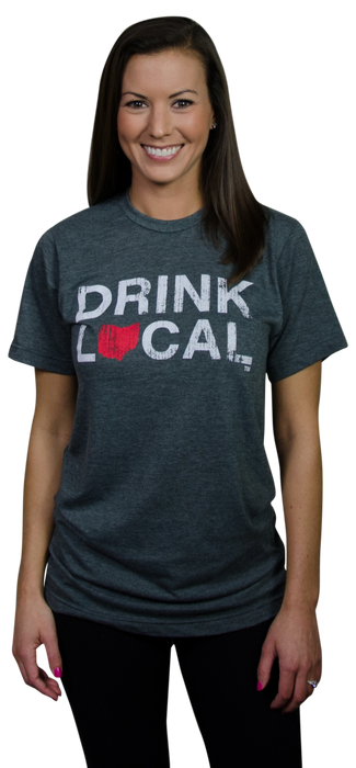 OHIO TEE | DRINK LOCAL | RED