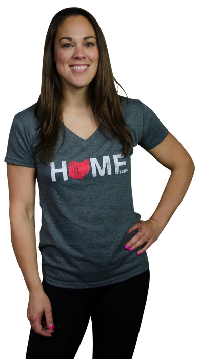 OHIO LADIES V-NECK | HOME | RED