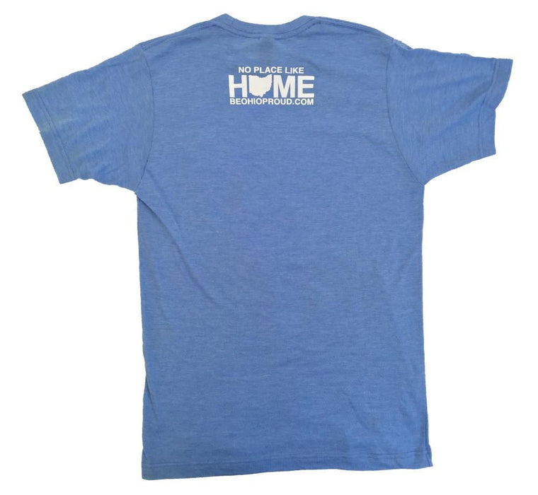 Ohio Tee | Word Cloud | Blue/White