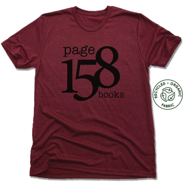 PAGE 158 BOOKS | UNISEX VINO RED Recycled Tri-Blend | BLACK LOGO