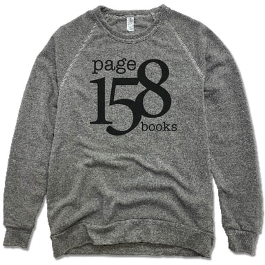 PAGE 158 BOOKS | FLEECE SWEATSHIRT | BLACK LOGO