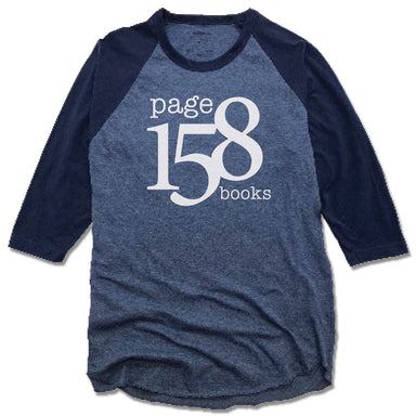 PAGE 158 BOOKS | NAVY/DENIM 3/4 SLEEVE | WHITE LOGO