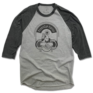 PENNYCUP COFFEE CO | GRAY 3/4 SLEEVE | LOGO