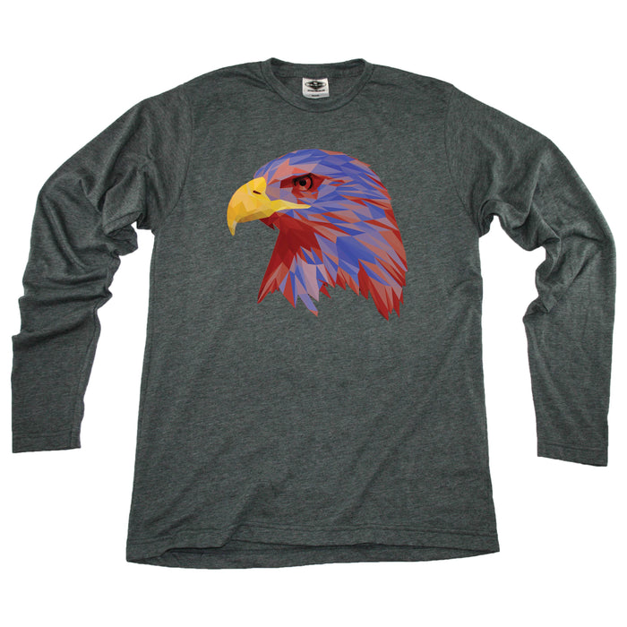 Low-Poly Eagle - Unisex Longsleeve