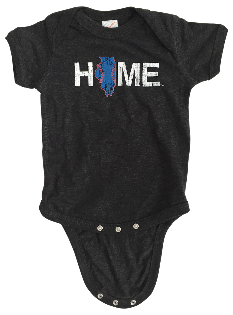 Illinois Onesie | Chicago Stitches | Blue/Red