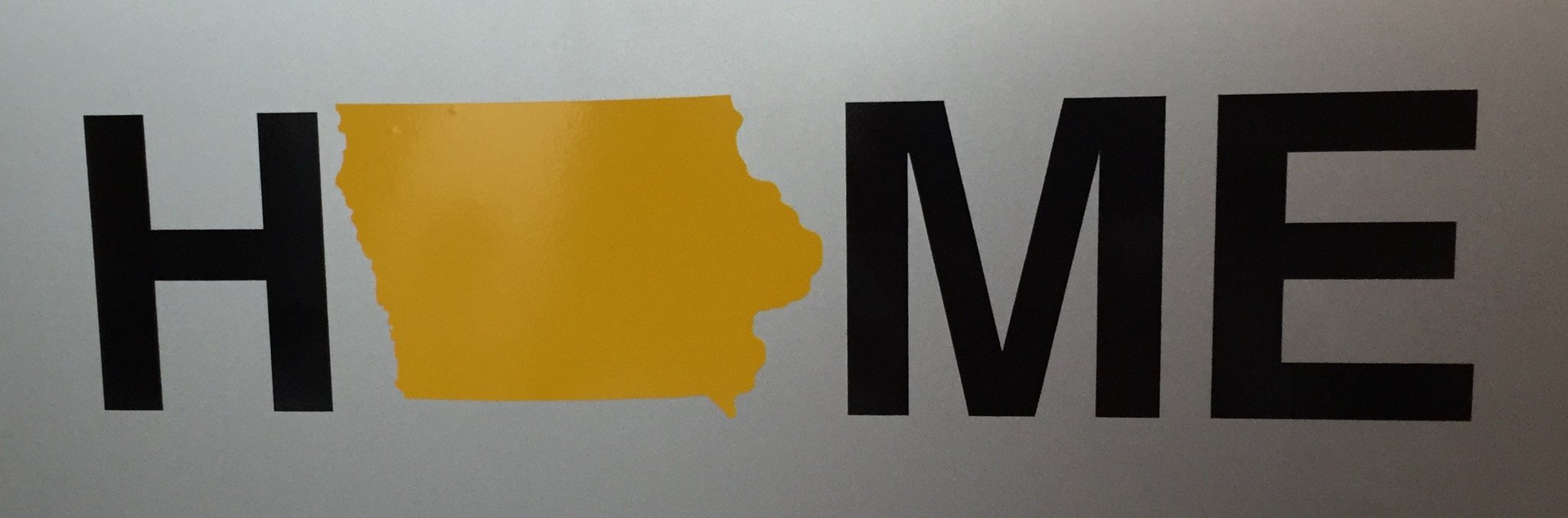 Iowa Sticker | Black/Gold
