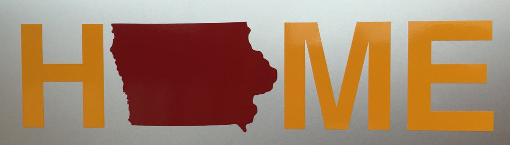 Iowa Sticker | Cardinal/Gold
