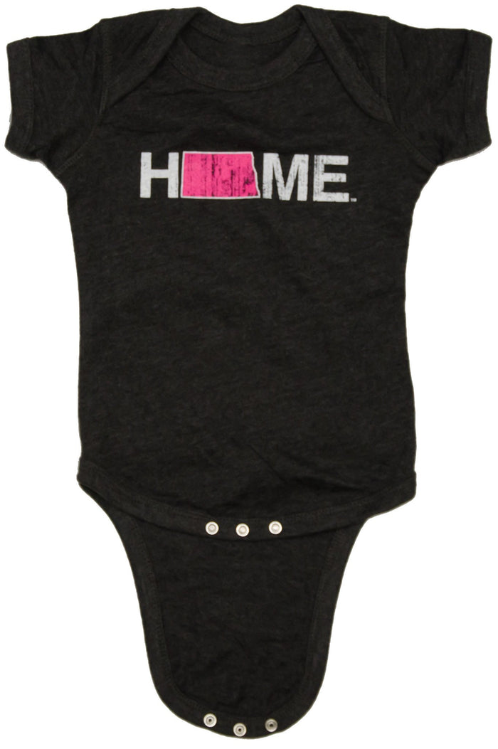 NORTH DAKOTA ONESIE | HOME | PINK