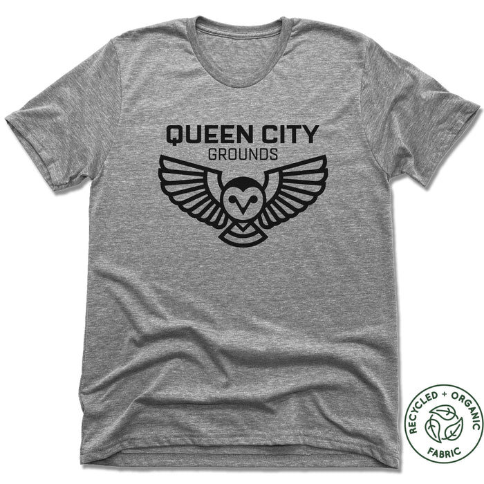 QUEEN CITY GROUNDS | UNISEX GRAY Recycled Tri-Blend