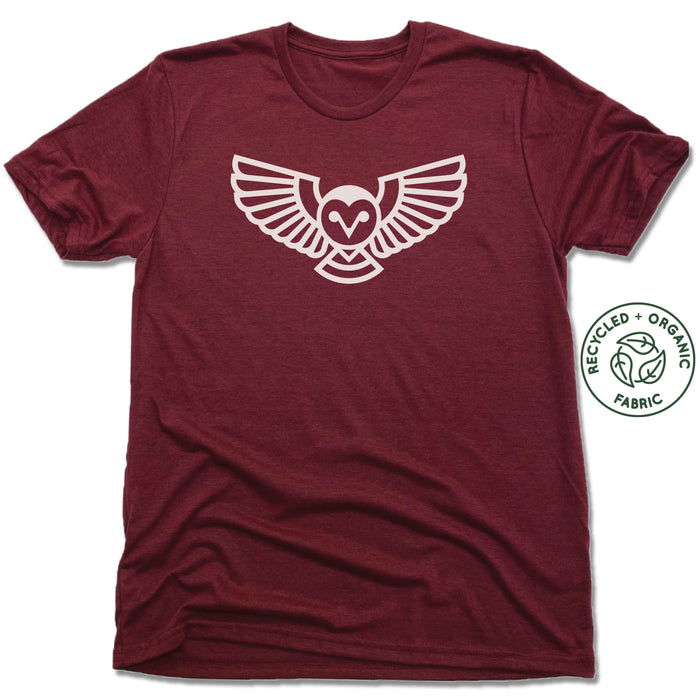 QUEEN CITY GROUNDS | UNISEX VINO RED Recycled Tri-Blend | OWL