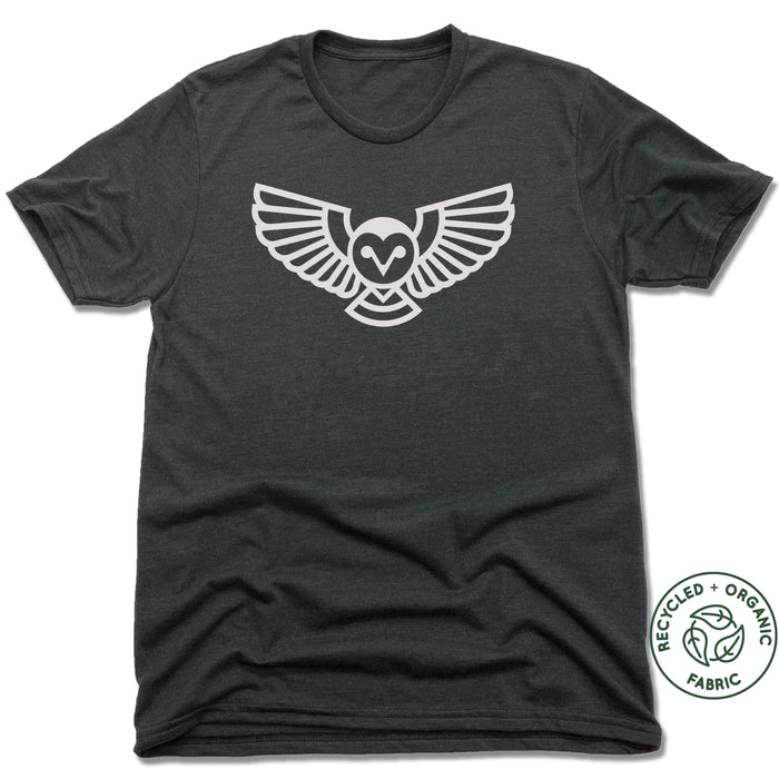 QUEEN CITY GROUNDS | UNISEX BLACK Recycled Tri-Blend | OWL