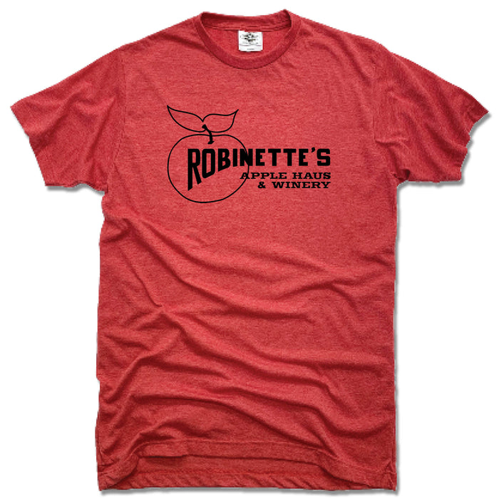 ROBINETTE'S APPLE HAUS & WINERY | UNISEX RED TEE | LOGO