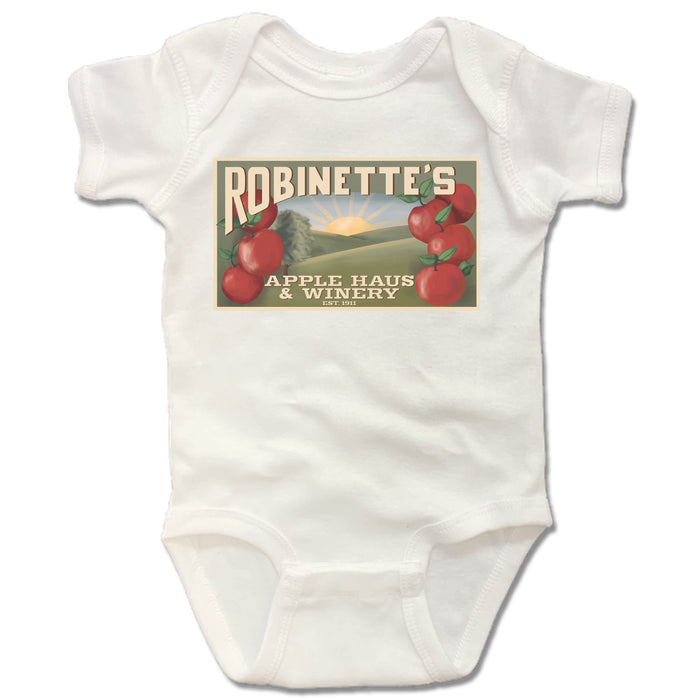 ROBINETTE'S APPLE HAUS & WINERY | WHITE ONESIE | POSTER
