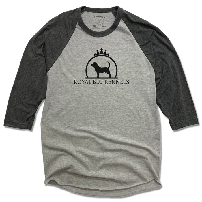 ROYAL BLU KENNELS | GRAY 3/4 SLEEVE | LOGO