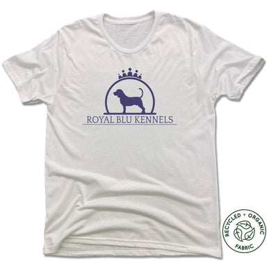 ROYAL BLU KENNELS | UNISEX WHITE Recycled Tri-Blend | LOGO