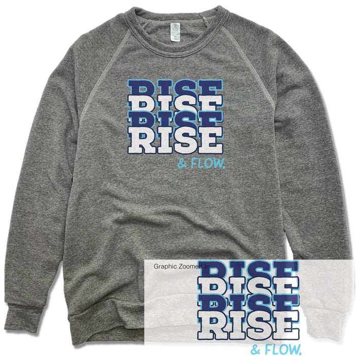 RISE AND FLOW YOGA STUDIO | FLEECE SWEATSHIRT | COLOR LOGO