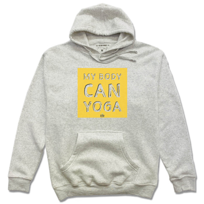 RISE AND FLOW YOGA STUDIO | HOODIE | YELLOW LOGO