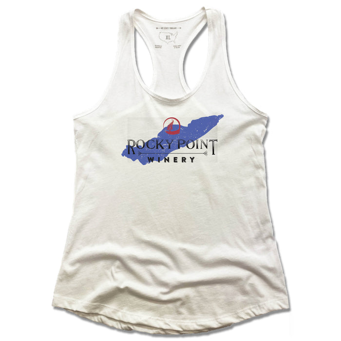ROCKY POINT WINERY | LADIES WHITE TANK | LAKE ERIE