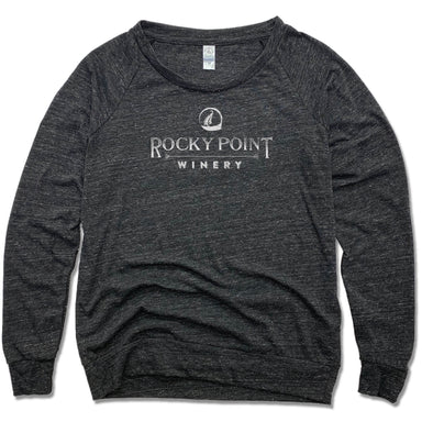 ROCKY POINT WINERY | LADIES SLOUCHY | WHITE LOGO