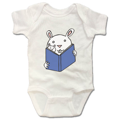 READ WITH ME | WHITE ONESIE | READING BUNNIES