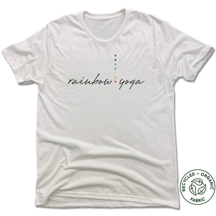 RAINBOW YOGA STUDIO | UNISEX WHITE Recycled Tri-Blend | LOGO