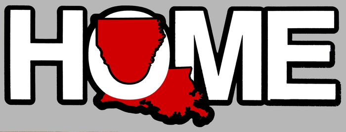 LOUISIANA STICKER | HOME | RED