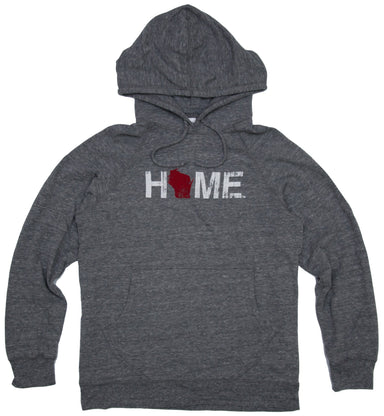 WISCONSIN GRAY HOODIE | HOME | RED