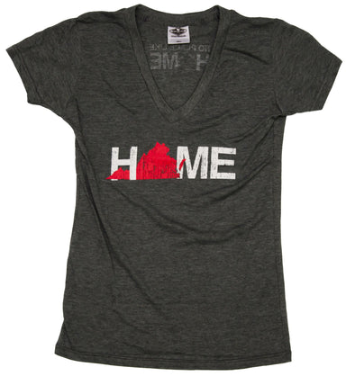 VIRGINIA LADIES V-NECK | HOME | RED
