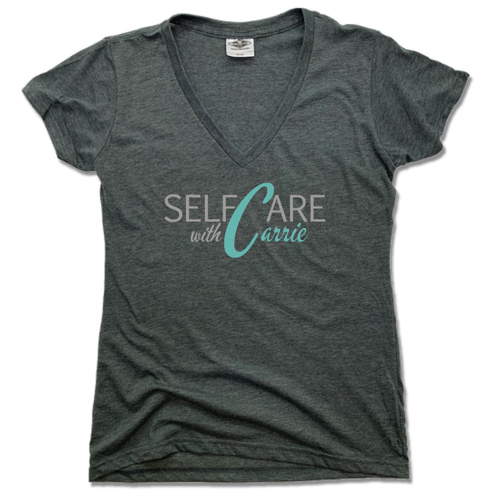 SELF CARE WITH CARRIE | LADIES V-NECK | COLOR LOGO